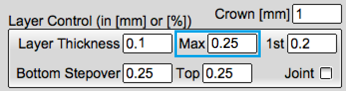 How to set the maximum layer height in KISSlicer.